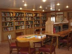 Swan Hellenic - Minerva, Board games are in library