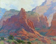 Red Rock Sphinx by Bill Cramer Oil ~ 16 x 20 Western Landscape, Landscape Art, Landscape Paintings, Mountain Paintings, Traditional Paintings, Paintings I Love, Environmental Art, Western Art, New Artists