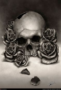 Skull and Roses by Rodger Pister   2D   CGSociety