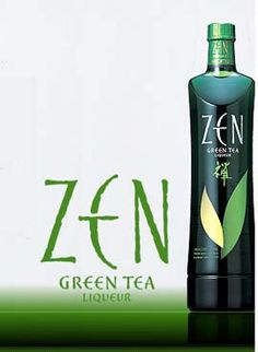 ZEN Green Tea Liqueur! (20% Alcohol) With all the benefits of REAL Green Tea!     Look at this link for amazing Zentini and other green tea cocktail recipes :)