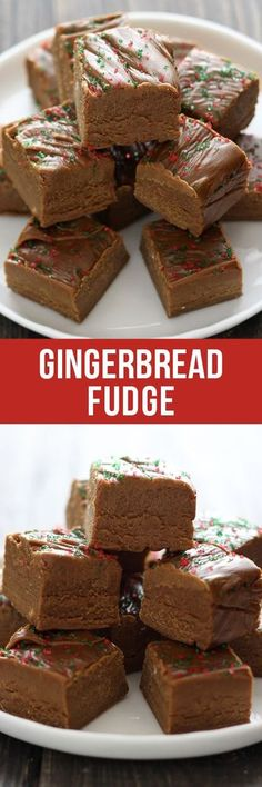 This easy homemade Gingerbread Fudge tastes like gingerbread cookie dough and requires no thermometer! Plus there's no marshmallows or condensed milk!