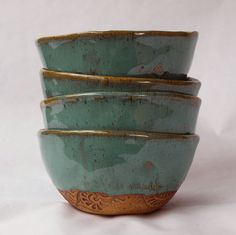 Pottery handmade bowl set of four by jjpottery on Etsy