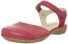 Portlandia Women's Siena Flat,Red,38 EU/7.5 W US. Cushioned insole. Flexible sole. Arch support. Does not meet US military uniform specifications. Gusseted tongue.
