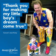 Carson wished to meet Mr Tumble!