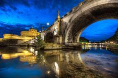 Under Ponte Sant'Angelo - (Rome, Italy)