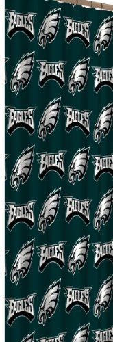 NFL 72-Inch-by-72-Inch Shower Curtain $15.00