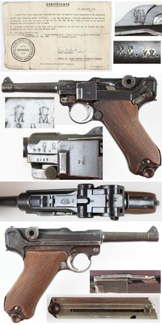 """DWM P08 Luger. WWII w/ GI """"Bring back papers"""""""