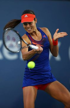 Ana Ivanovic of Serbia hits a forehand during her third round match against Coco Vandeweghe of the U.S. at the Southern California Open - Day Four at La Costa Resort & Spa on August 1, 2013 in Carlsbad, California. #WTA #Ivanovic #Carlsbad