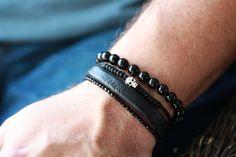 Mens SKULL Watchanish Bracelet  Skull Bracelet  by SophieandTrey, $18.00