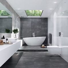 40 Amazing Modern Bathroom Design Ideas You Must Have - Bathrooms are not just bathrooms anymore and some principles of modern bathroom need to be incorporated in designing a bathroom space using modern des. Big Bathrooms, Small Bathroom, Bathroom Mirrors, Remodel Bathroom, Colorful Bathroom, Master Bathroom, Bad Inspiration, Bathroom Inspiration, Bathroom Trends