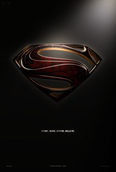 Man Of Steel - Alternate Shield Poster by P2Pproductions.deviantart.com