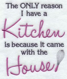 A funny kitchen saying machine embroidery design.