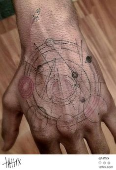 Kid Cudi - New tatoo done by Dr Woo - To Scale Solar System Hand Tattoos, Facial Tattoos, Arm Tattoo, Body Art Tattoos, New Tattoos, Tribal Tattoos, Tatoos, Cool Tattoos For Guys, Trendy Tattoos