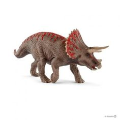 Triceratops $19.99  Description Triceratops The Triceratops was one of the last large dinosaurs. The Triceratops was one of the last large dinosaurs. Despite being an herbivore, it had a total of up to 800 teeth, which constantly grew back. Nonetheless, it was incapable of chewing food, as its jaw could not move from side to side. It used its teeth to cut up palm leaves and ferns. Dimensions: 8.31 x 2.05 x 3.86 inch (W x D x H)