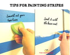 STOP the paint bleed when you paint stripes! This shows you exactly how to get a perfect line when you paint stripes on a wall.