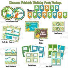DIY Printable Dinosaur Birthday Party Package. $5.00, via Etsy.