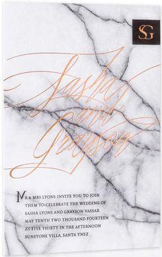 Marble Wedding Invitations / Winter Wedding / Wedding Style Inspiration / LANE (instagram: the_lane)