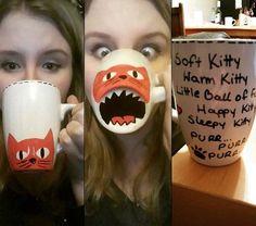 DIY Kitty Sharpie Mug http://ibeebz.com