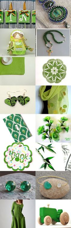 Green summer  by lechiffrejewels on Etsy--Pinned with TreasuryPin.com #Estyhandmade #giftideas #summerfinds