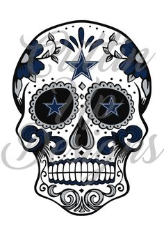 Dallas Cowboys Sugar Skull SVG for Cricut or by CuttinUpGifts
