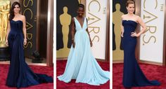 Blue Dresses | Wedding Fashion Inspiration from the 2014 Oscars Red Carpet on TahoeUnveiled.com | Sandra Bullock, Lupita Nyong'o, Amy Adams