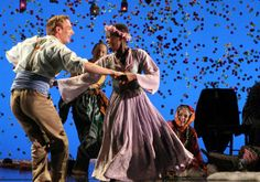 """Lupita Nyong'o (dancing) was featured in the Yale Repertory Theatre production of """"A Winter's Tale"""" last year"""