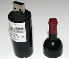 "Wine bottle USB drive....I love this!  www.LiquorList.com  ""The Marketplace for Adults with Taste"" @LiquorListcom   #LiquorList"