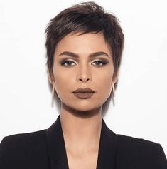 50 Popular and Posh Pixie Cut Looks Short Pixie Haircuts Loading. Very Short Pixie With Side Bangs Previous Post Next Post Short Pixie Haircuts, Haircuts With Bangs, Haircut Short, Pixie Haircut Styles, Pixie Styles, Short Styles, Women Pixie Haircut, Boy Haircuts, Fade Haircut