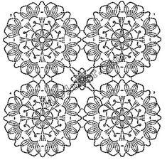 Photo from album Crochet Stitches Chart, Crochet Motifs, Crochet Mandala, Thread Crochet, Filet Crochet, Crochet Flowers, Knit Crochet, Crochet Patterns, Crochet Snowflake Pattern