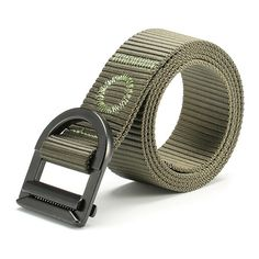 120CM Men Nylon Alloy Buckle Belt Military Tactical Durable Pants Strip at Banggood