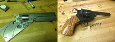 """Nicely documented below are some photos of the building process behind making a .22 copy of a Webley break-top revolver. This firearm was made entirely from scratch using some basic machine tools. """"Bar stock with paper templates I made"""" """"Block of wood for test fitting of the components of the action"""" """"The pivot of the … Read More …"""