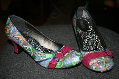 DIY Disney Park Map Shoes Tutorial {Disney Wedding Inspiration}