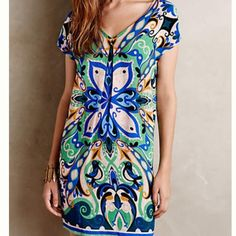 Folksong Shift Dress NWT dress from Anthropologie brand. Price is negotiable, make me an offer. Cannot model dress is way too big on me. Anthropologie Dresses