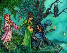 Triple Goddess by Razulude on DeviantArt Ah My Goddess, Triple Goddess, Moon Goddess, Botanical Drawings, Botanical Illustration, Maiden Mother Crone, Magic Art, Magical Creatures, Moon Art