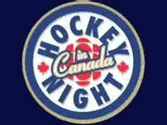 """This is the second version of the CBC Hockey Night in Canada theme song, entitled """"The Hockey Theme"""" by Dolores Claman. I'm also indeed an avid fanatic of hockey, which is Canada's national sport. Ice Hockey Teams, Hockey Players, Garter Toss Songs, Ice Hockey Sticks, Tv Series Free, Canada Hockey, Play S, National Hockey League, Toronto Maple Leafs"""