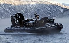 Royal Marines latest weapon. The next generation of super-powered hovercraft.