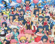 Tags: Anime, Soara, Pokémon, Cyndaquil, Shaymin, Preschooler (Pokémon), Hikari (Pokémon)