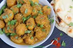 lightly fried baby potatoes cooked in a flavorful and spiced yogurt curry. Yogurt Curry, Vegetarian Curry, Baby Potatoes, Spices, Chicken, Cooking, Recipes, Food, Cuisine