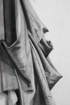 Charcoal Drapery Study