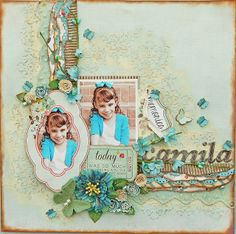 Marilyn Rivera -I made this page with the July Limited Edition kit by My Creative Scrapbook.  More closer details...http://marilynrivera.blogspot.com/