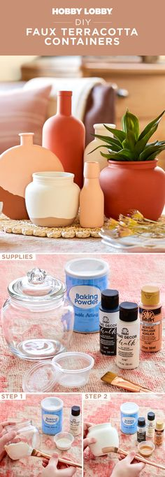 Diy Projects To Try, Crafts To Do, Decor Crafts, Home Crafts, Diy Home Decor, Arts And Crafts, Diy Crafts, Bottle Painting, It's Easy