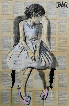 """Saatchi Online Artist: Loui Jover; Ink 2013 Drawing """"tulip"""""""