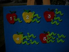 Worm and Number Apple Matching