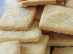 Toasted Chickpea Shortbread Squares