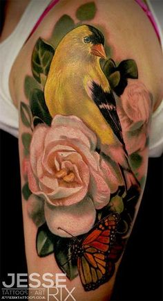 Jesse Rix - Goldfinch Tattoo