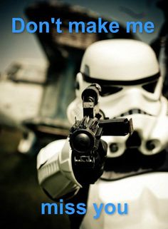 Stormtroopers never hit anything #StarWars