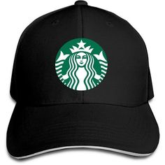 YesYouGO Starbucks Logo Adjustable Snapback Caps Baseball Peaked Hat ($9.64) ❤ liked on Polyvore featuring accessories, hats, baseball caps hats, adjustable caps, baseball cap, logo hats and adjustable hats