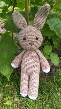 Amigurumi bunny with safety eyes crocheted by RiBak crafts