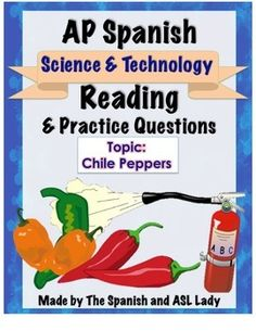 Article in Spanish from a chemistry website about chile peppers & AP level multiple choice questions.