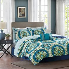 Madison Park Essentials Serenity Reversible Twin Coverlet Set in Blue/Green